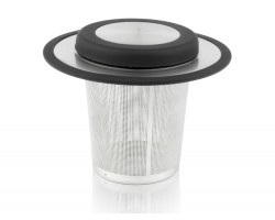 Tea filter with coaster