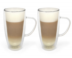 Double w. glass capp./latte m. 400ml s/2