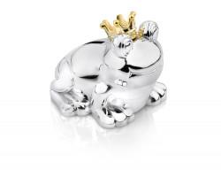 Money box Frog 10x9x9cm silver colour