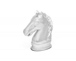 Money box Horse silver colour