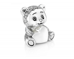 Money box Bear with heart silver colour