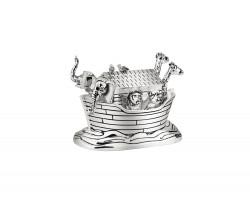 Music box Noah's Ark silver colour