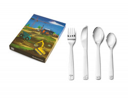 Children's cutlery 4pcs Const.Vehicles s/s