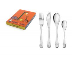 Children's cutlery 4-pcs Miffy Zoo s/s