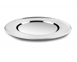 Charger plate Pearl 33cm silverplated