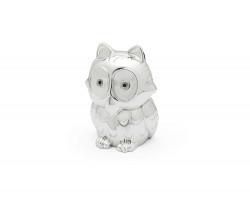 Money box Owl silver colour