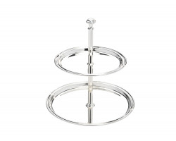 Serving stand Elegance 2-tier 17x22cm sp/l