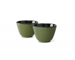 Cups Xilin cast iron green s/2