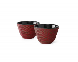 Tea mugs Xilin, red, set of 2