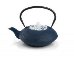 Teapot Yantai dark blue, with porcelain lid, 1.2L