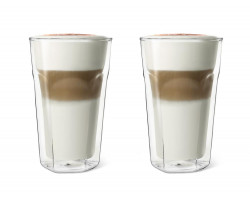 Double walled glass Latte Macchiato
