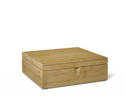 Tea Box 6 compartments Bamboo closed