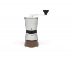 Coffee mill Bologna stainless steel with glass