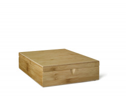 Tea box 9 compartments closed bamboo
