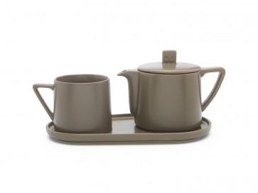 Tea-for-one set Lund warm grey