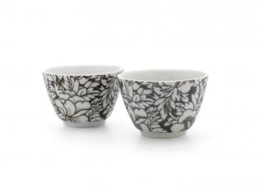 Tea mugs Yantai black/brown s/2