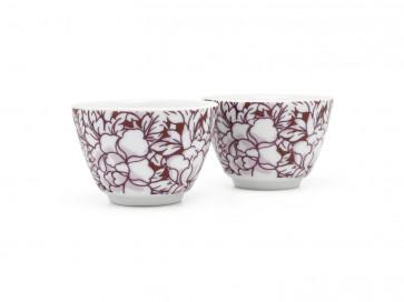 Tea mugs Yantai red s/2