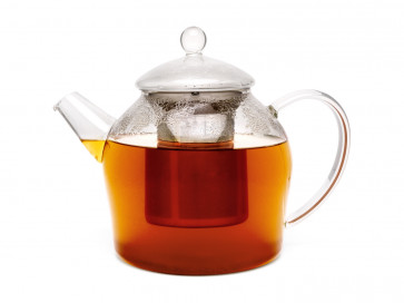 Glass Minuet teapot 1.2L with filter