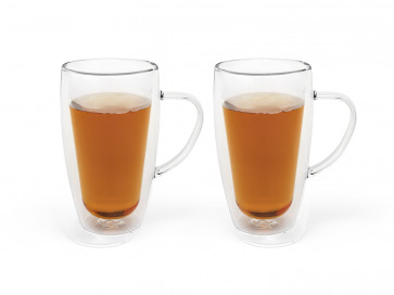 Double walled glass coffee/tea 295ml s/2