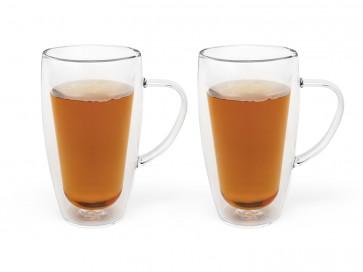 Double walled glass coffee/tea 320ml s/2