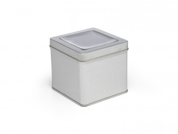 Canister with window for tea box 184005