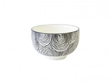 Tea bowl Pucheng 152004 waves / uni