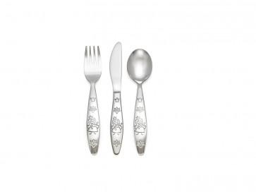 Children's cutlery 3-pcs Princess, 18/10 s/s