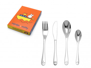 Children's cutlery 4pcs Miffy vehicles s/s