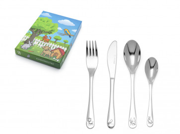Children's cutlery 4-pcs Pets s/s