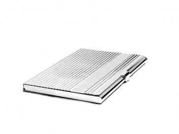 Business card holder Linea with large engr. shield