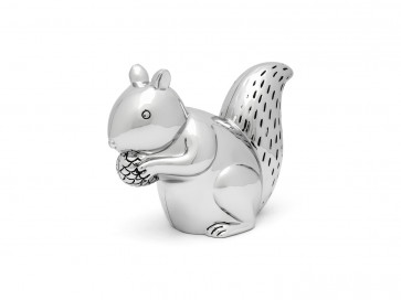 Money box Squirrel silver colour