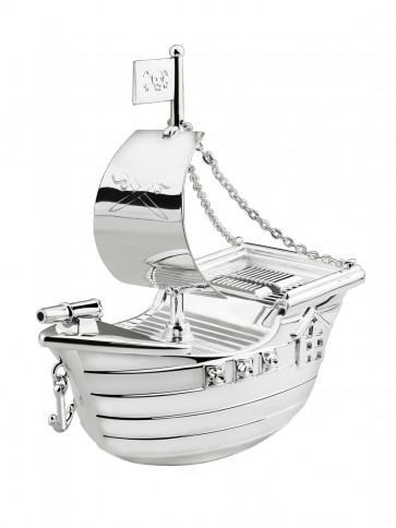 Money Box Pirate Ship sp./lacq.