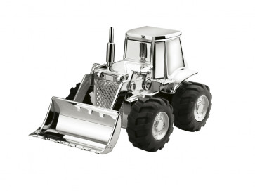 Money box Tractor 14x8x9cm silver colour