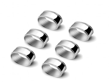 Napkin rings Oval, set of 6 5.5cm sp.