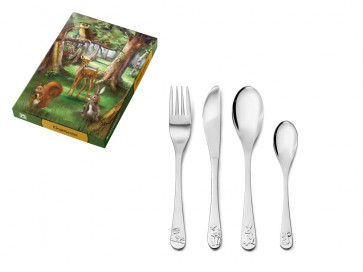 Children's cutlery 4pcs Forest animals s/s