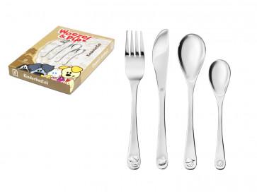 Children's cutlery 4-pcs Woezel & Pip s/s