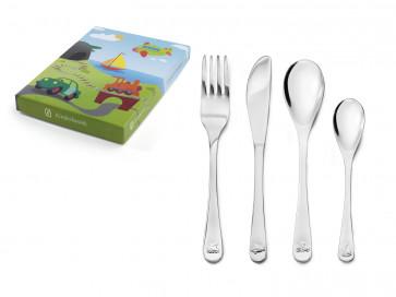 Children's cutlery 4-pcs Vehicles s/s