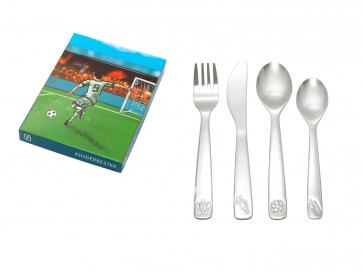 Children's cutlery 4-pcs Football s/s