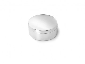 Box plain round 42mm silver colour