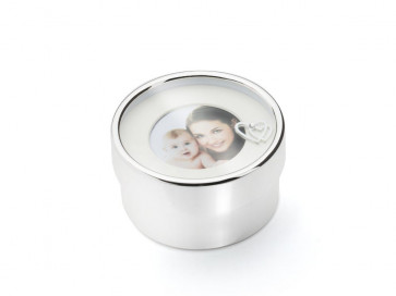 What not box I love you Mom silver plated lacquered