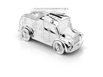 Money Box Fire engine 7x15cm silverplated