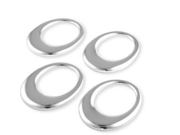 Napkin rings Oval, set of 4 (7x5,2 cm) silverpl. lacq.