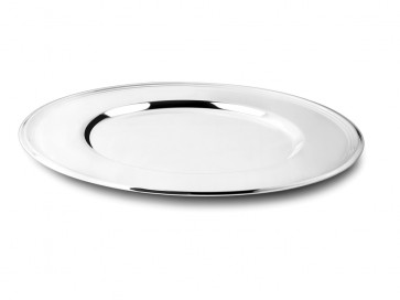 Charger plate Lines 33cm silverplated