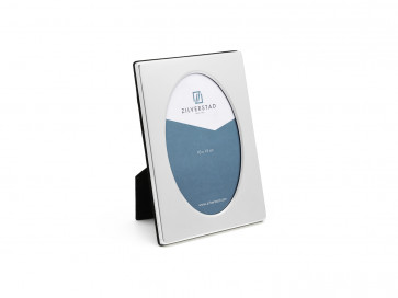 Photo frame  oval (10x15cm) silverpl. lacquered