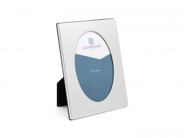 Photo frame  oval (13x18cm) silverpl. lacquered