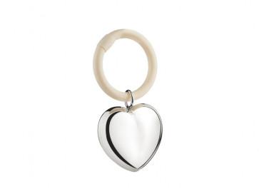 Teething ring Heart on ring 10x5,5x1cm sp. B90