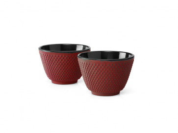Cups Cast Iron S/2 Xilin red
