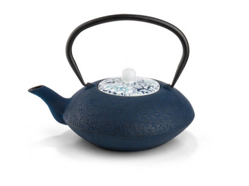 Teapot Yantai dark blue, with porcelain lid, 1.2L