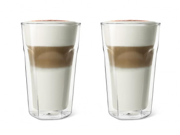 Double Walled Glass Latte Macchiato 280ml, set of 2