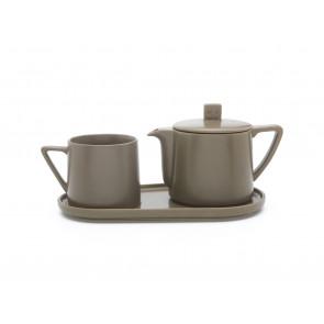 Tea-for-one Set Lund graubrraun